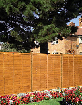 Professional Lap Fence Panels Golden Brown