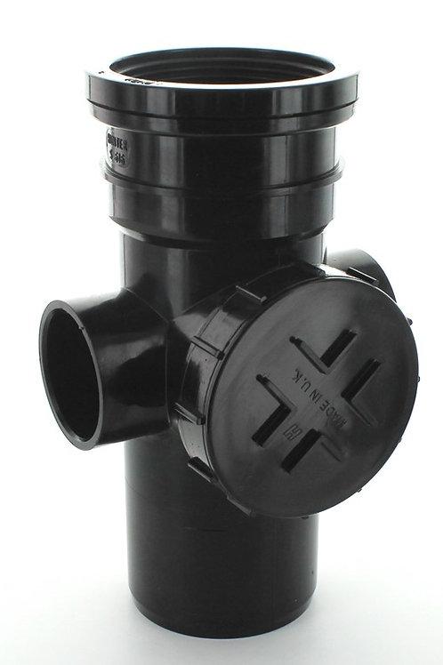BS309 Hunter Soil 110mm Access Pipe Spigot Tail Black