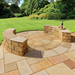 Golden Fossil Sandstone Paving