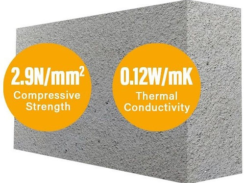 Mannok (formerly Quinn) Airated Insulation Block 100mm 2.9N