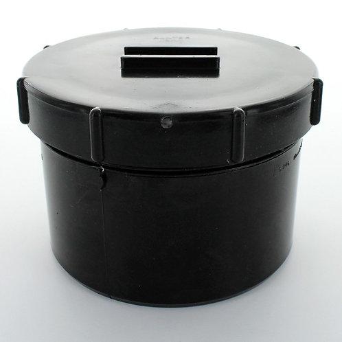 BS246 Hunter Soil 110mm Access Cap Spigot Tail Black