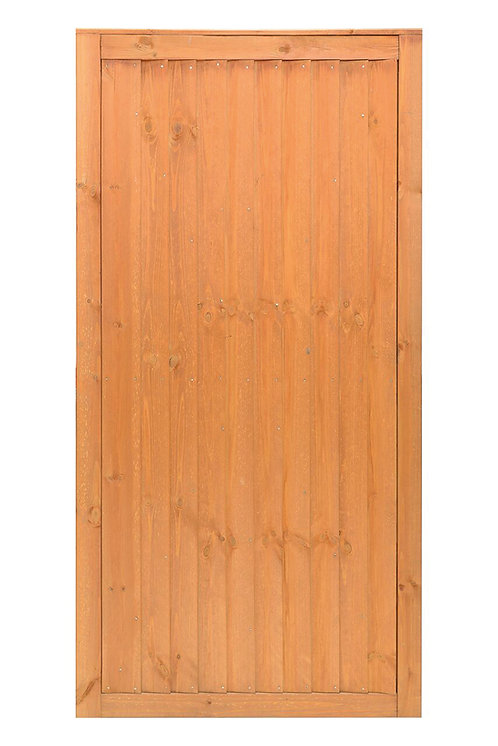 Closeboard Gate Golden Brown Square Top 900mm x 1815mm