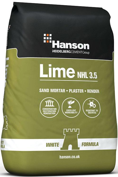Hanson Hydraulic Construction Lime NHL 3.5 White - 25kg