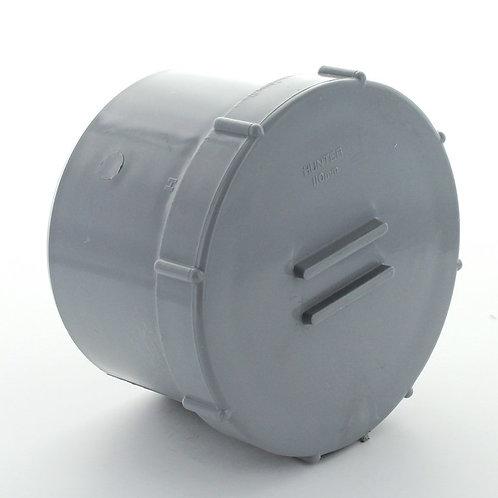 GS246 Hunter Soil 110mm Access Cap Spigot Tail Grey