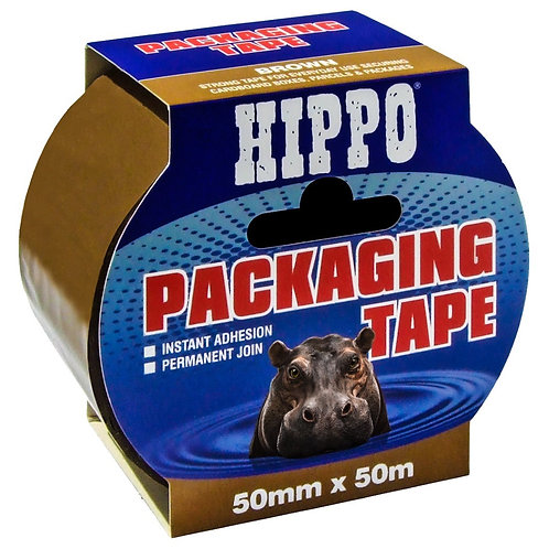 Hippo Brown Packaging Tape - 50mm x 50m