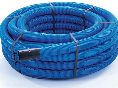 Perforated Land Drainage Coil incl.coupler - 100mm x 25m
