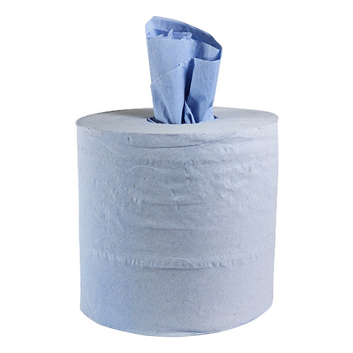 Builders' Blue Wipe Two Ply Tissue Roll - 150m x 175mm