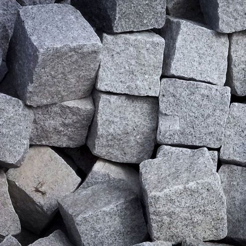 Hand-Cropped Granite Setts - Astral Grey
