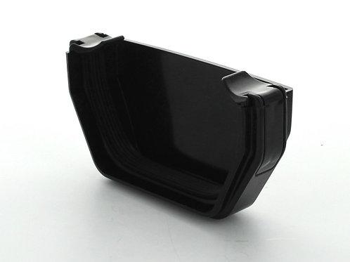 BR380 Hunter Squareflo Guttering 114mm Stopend External Black