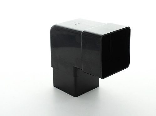 BR393 Hunter Squareflo Guttering 65mm 92.5 Degree Bend Black