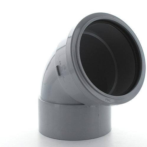 GS270 Hunter Soil 110mm 112.5 Degree Top Offset Bend Solvent Socket Tail Grey