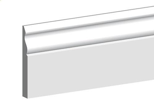 Primed MDF Ogee Skirting 18mm x 144mm 4.4m Length