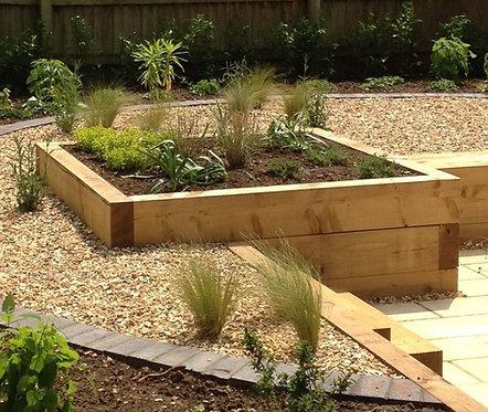New Oak Timber Landscape Sleeper