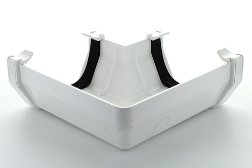 WR383 Hunter Squareflo Guttering 114mm 90 Degree Angle White