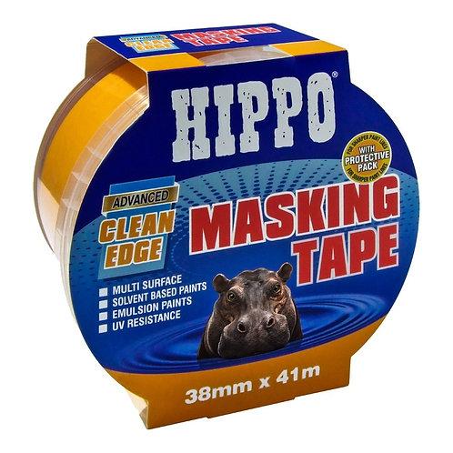 Hippo Clean-Edge Masking Tape Yellow - 38mm x 41m