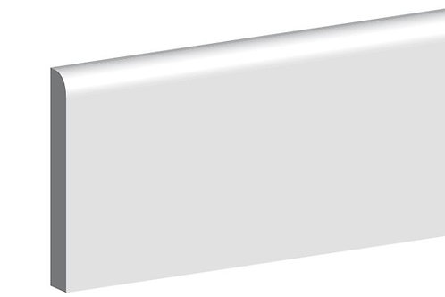 Primed MDF Bullnose Architrave 15mm x 44mm 4.4m Length