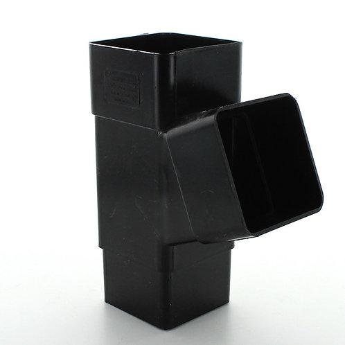 BR392 Hunter Squareflo Guttering 65mm 112.5 Degree Branch Black