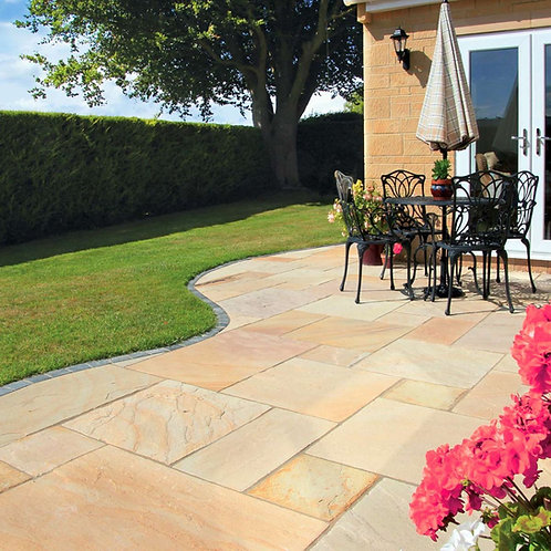 Premium Calibrated Sandstone Paving -Golden Fossil