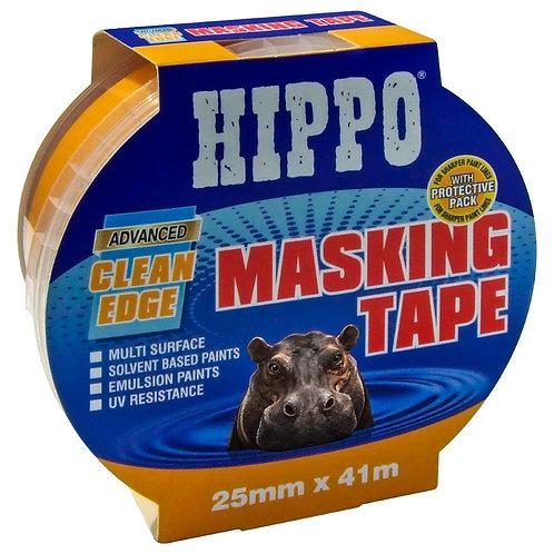 Hippo Clean-Edge Masking Tape Yellow - 25mm x 41m