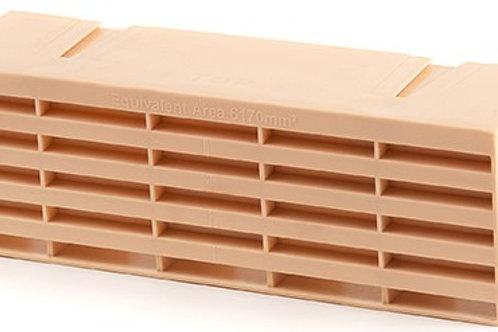 Plastic Air Brick Buff 215 x 65mm