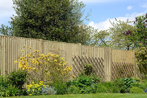 Weston Featheredge Treated Green Fence Panels