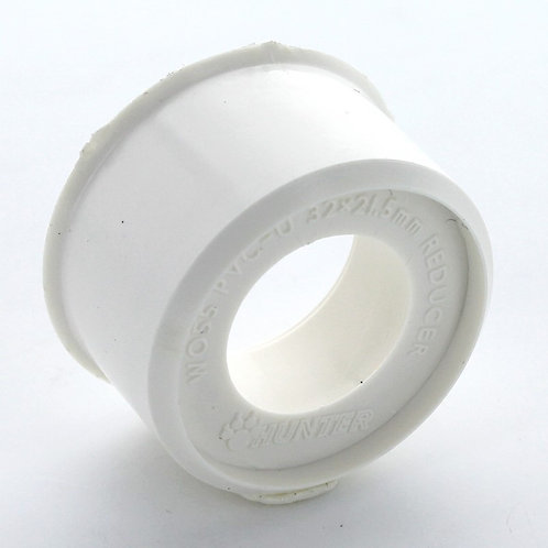 WW057 Hunter Waste 40mm to 32mm Socket Reducer White