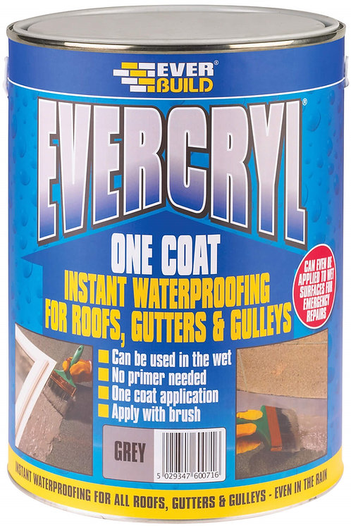 Evercryl One Coat Roof Repair Grey - 2.5 litres