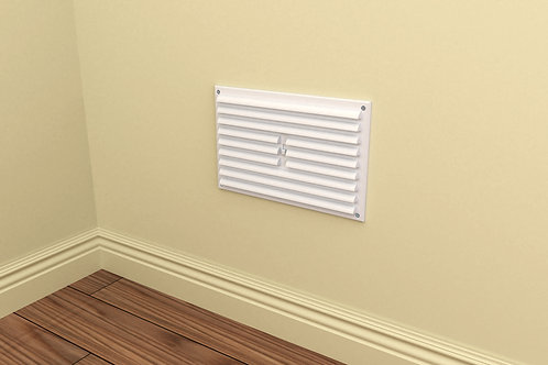 9 x 9 Louvred Grille Vent White