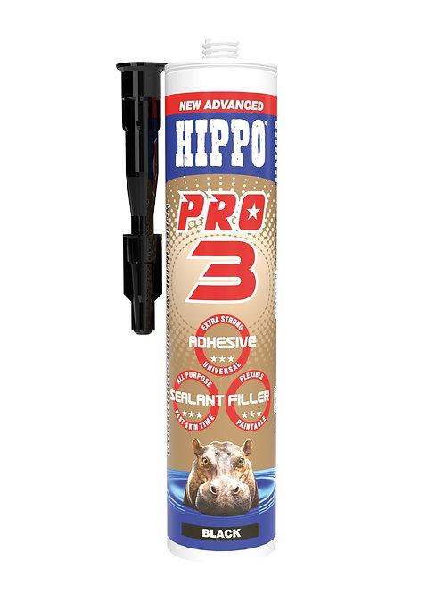 Hippo Pro3 3in1 Adhesive, Sealant & Filler 310ml Cartridge Black