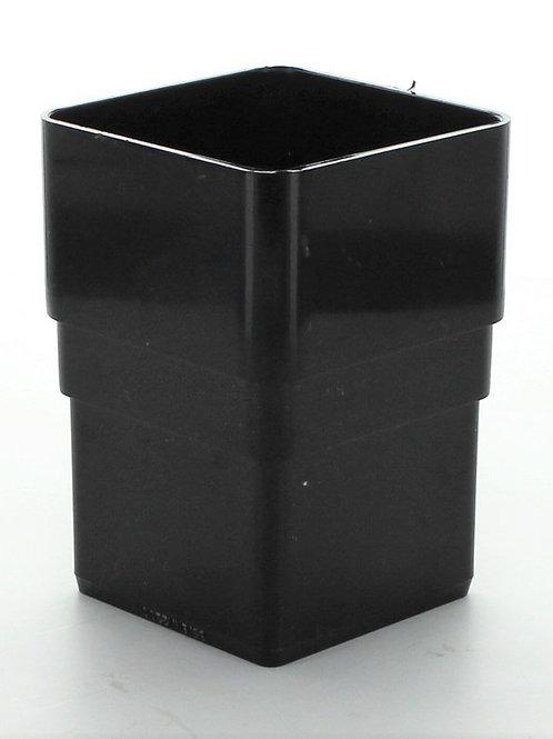 BR389 Hunter Squareflo Guttering 65mm Pipe Connector Black