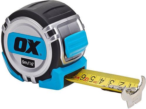 Ox Pro 5m Heavy Duty Tape Measure Metric/Imperial