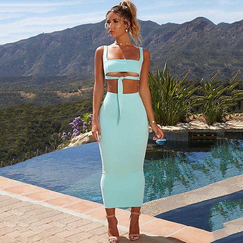 Neon Skirt Set