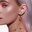 Thumbnail: Butterfly Hoop Earrings