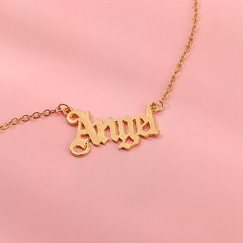 Personalized Angel Necklace