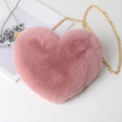 Fluffy Heart Purse