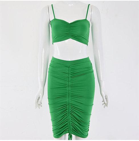 Ruched Skirt Set