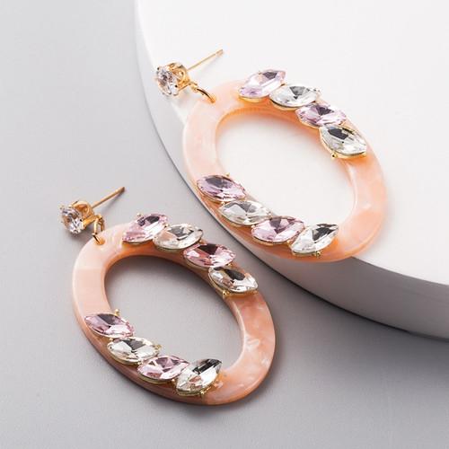 Oval Round Earrings