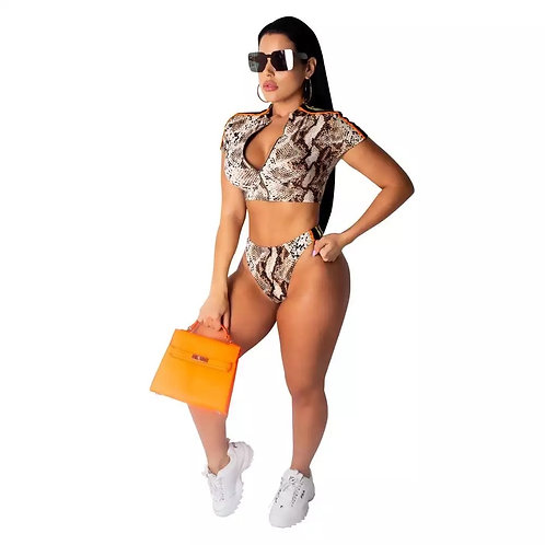 Snake Skin Print Bikini