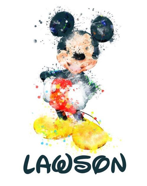 Watercolor Mouse
