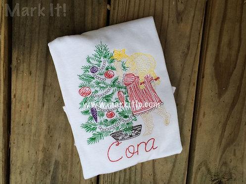 Girl Hanging Christmas Star