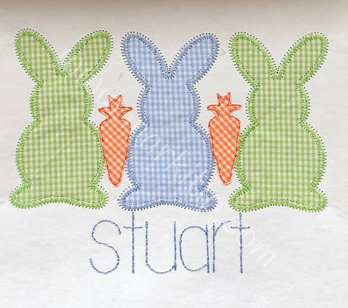 Bunny Trio With Carrots