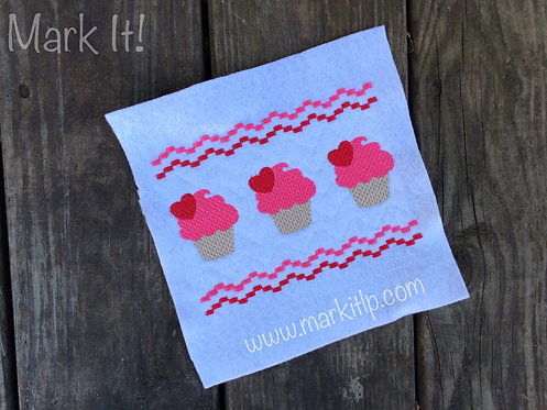 Faux Smock Cupcakes