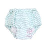 Mint Seersucker Diaper Covers