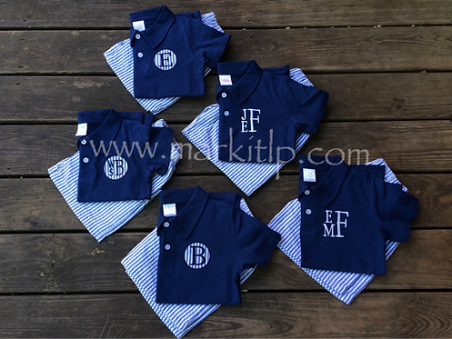 Circle Patch Polo Set