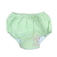 Lime Seersucker Diaper Covers