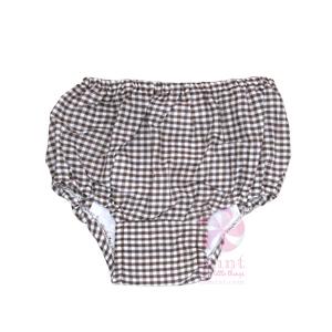 Brown Gingham Diaper Covers