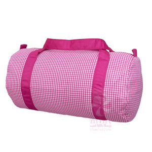 Gingham Duffle Bag