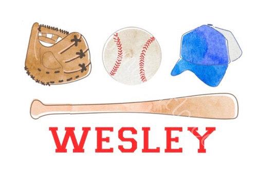 Baseball Equipment Trio