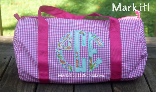 Scallop Applique Monogram Duffle Bag