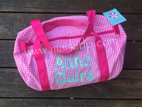 Applique Name Duffle Bag